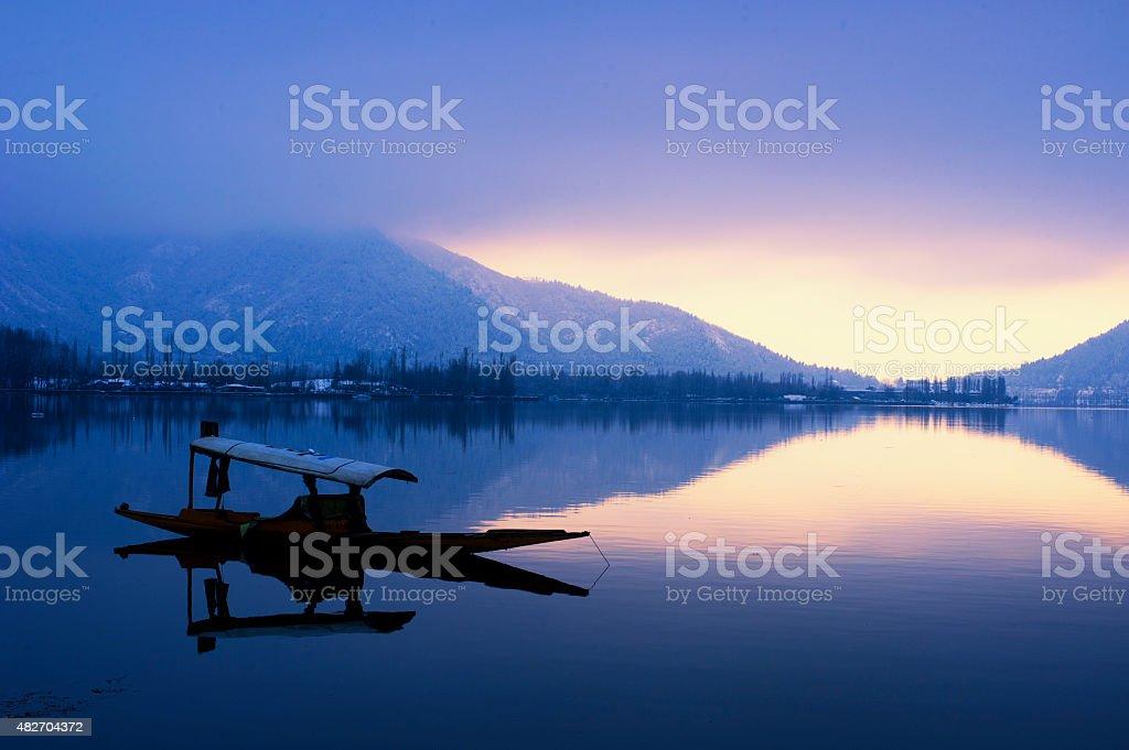 Life on lake stock photo