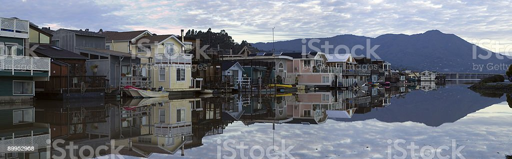Life on the water - Sausalito stock photo