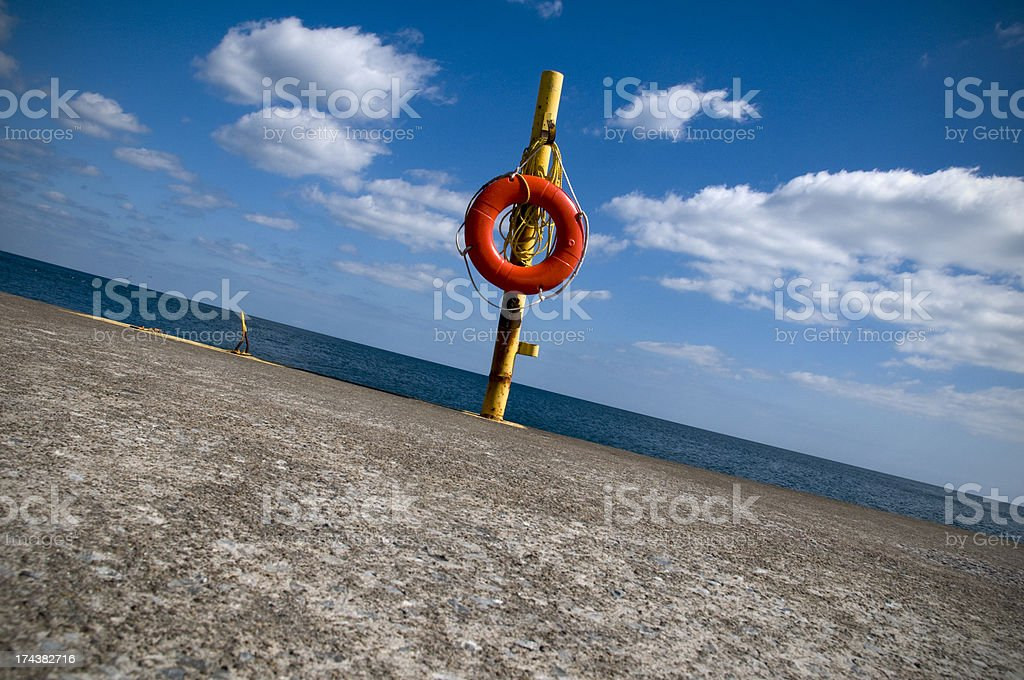 Life Preserver, Tilted stock photo