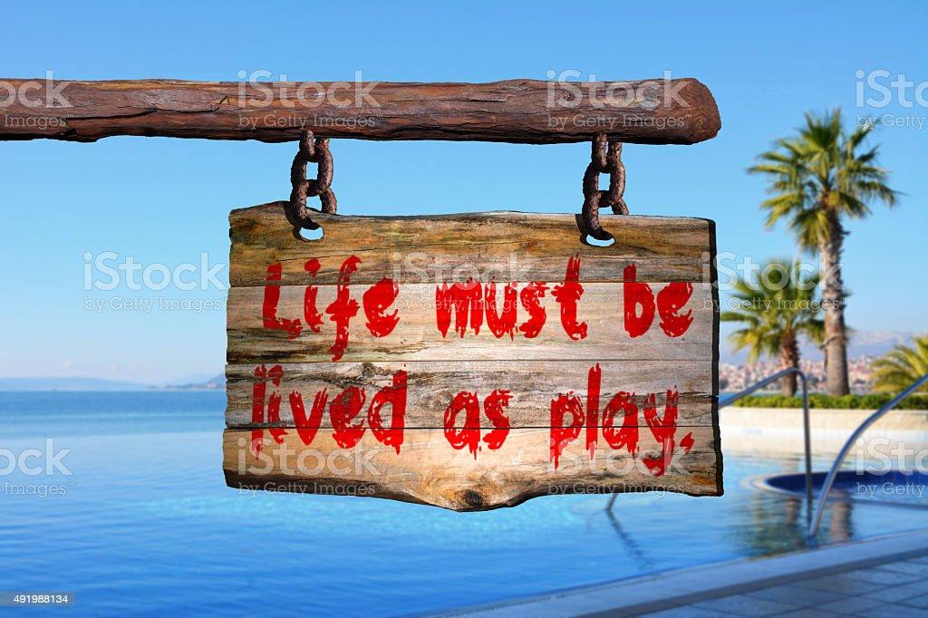 Life quote stock photo