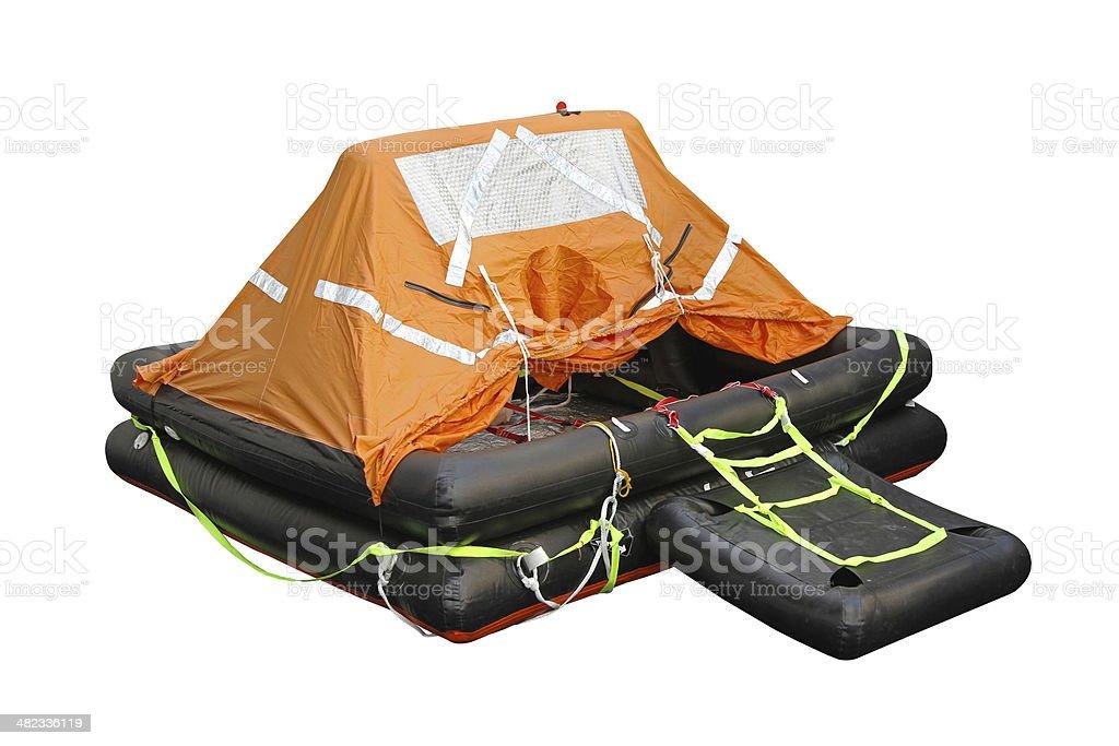 Life raft stock photo