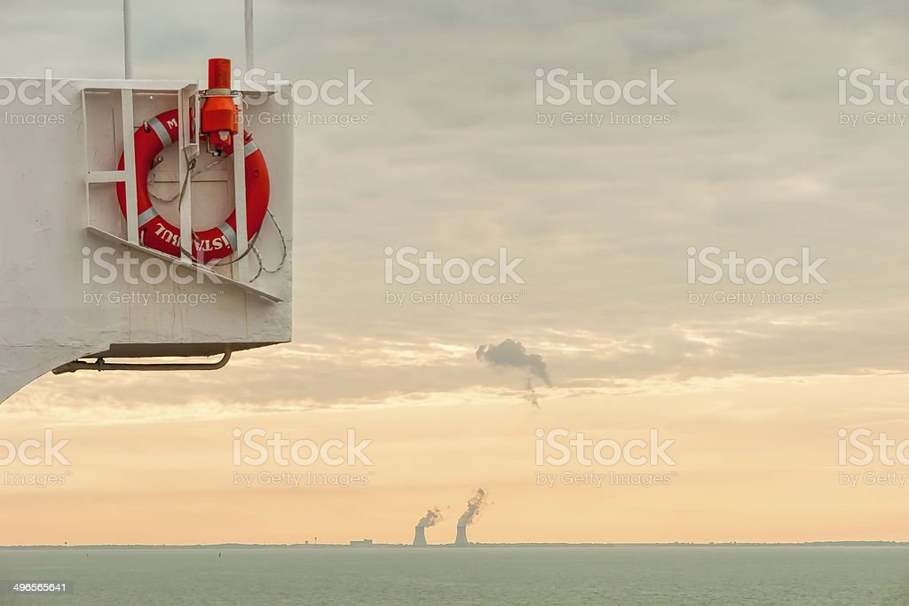 Life ring and buoy stock photo