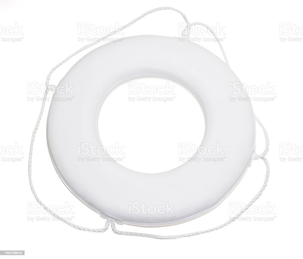 Life Ring on White with Clipping Path royalty-free stock photo