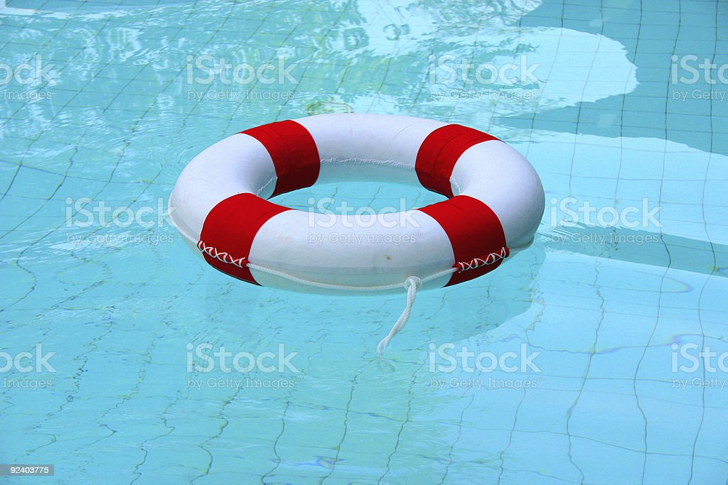 life saver floating on water royalty-free stock photo