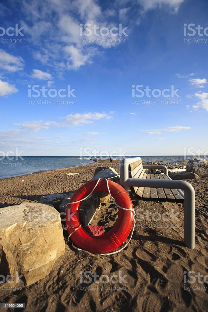 Life Saver on the Beach royalty-free stock photo