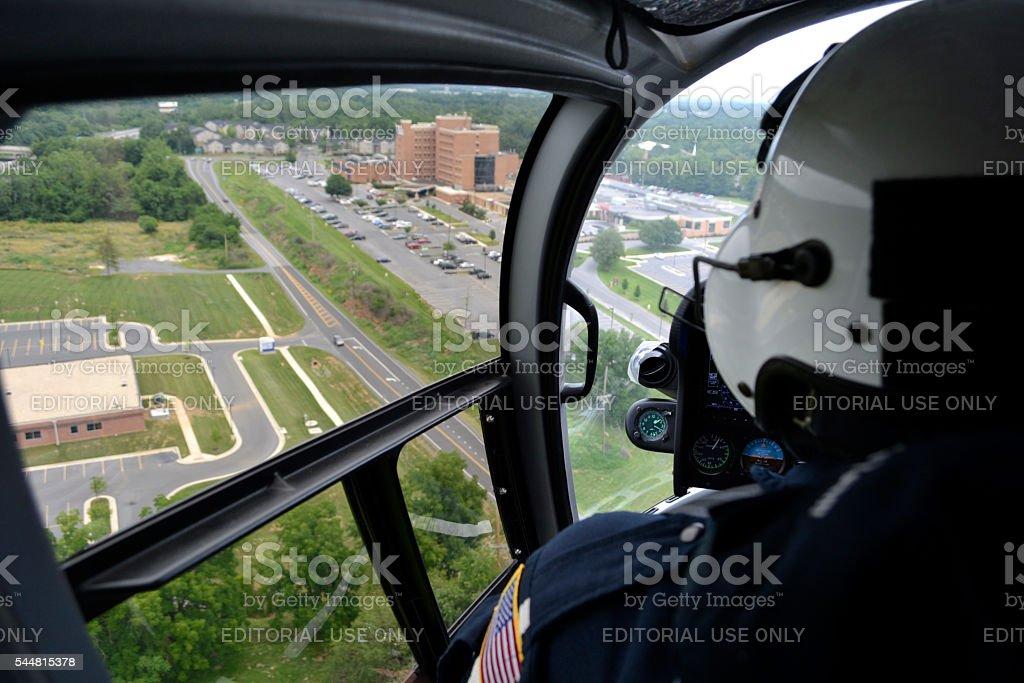 Life Saving Flight stock photo
