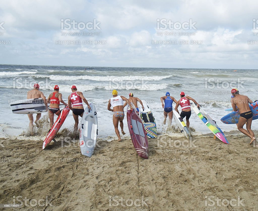 EK Life Saving Sport in Noordwijk royalty-free stock photo