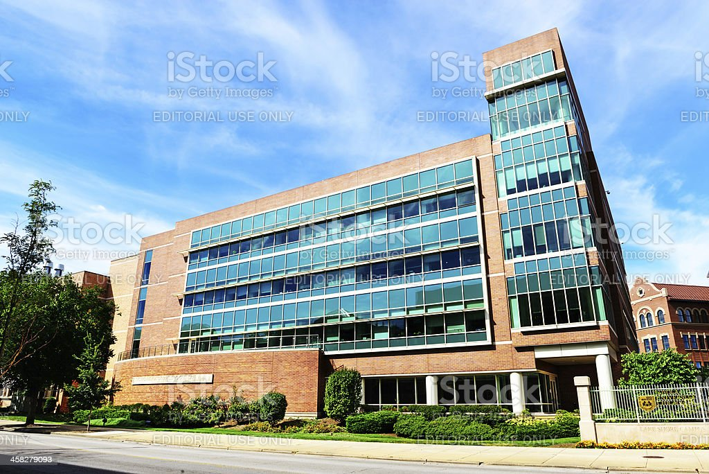 Life Sciences Building at Loyola University, Chicago stock photo