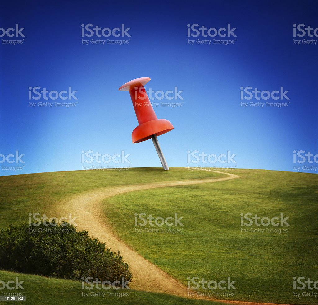 Life Size Map Marker royalty-free stock photo