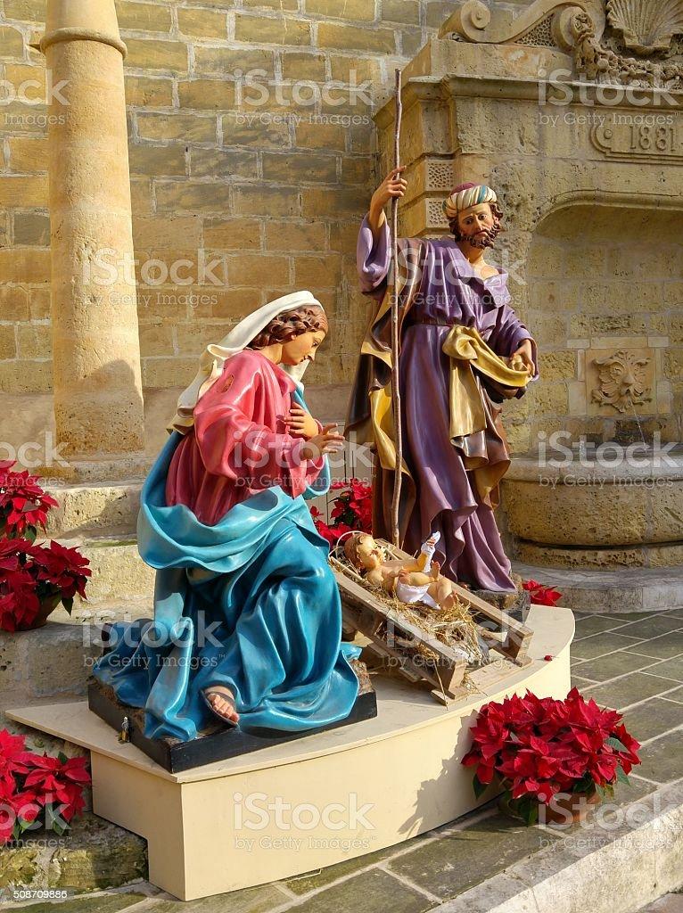 Life Sized Nativity stock photo