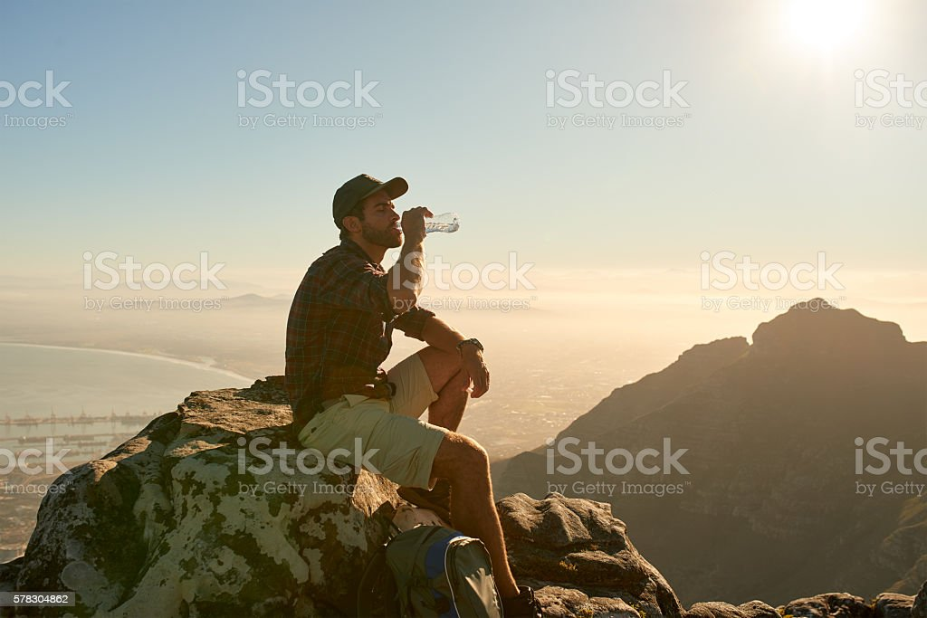 Life slows down a bit up here stock photo