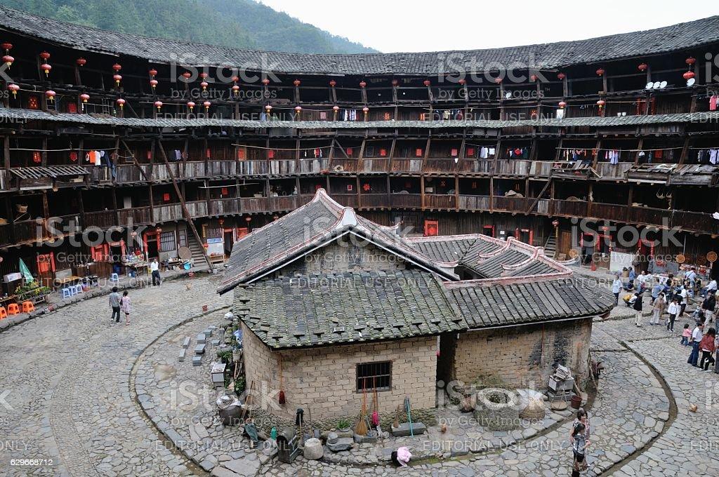 Life style of Fujian Tulou, China stock photo