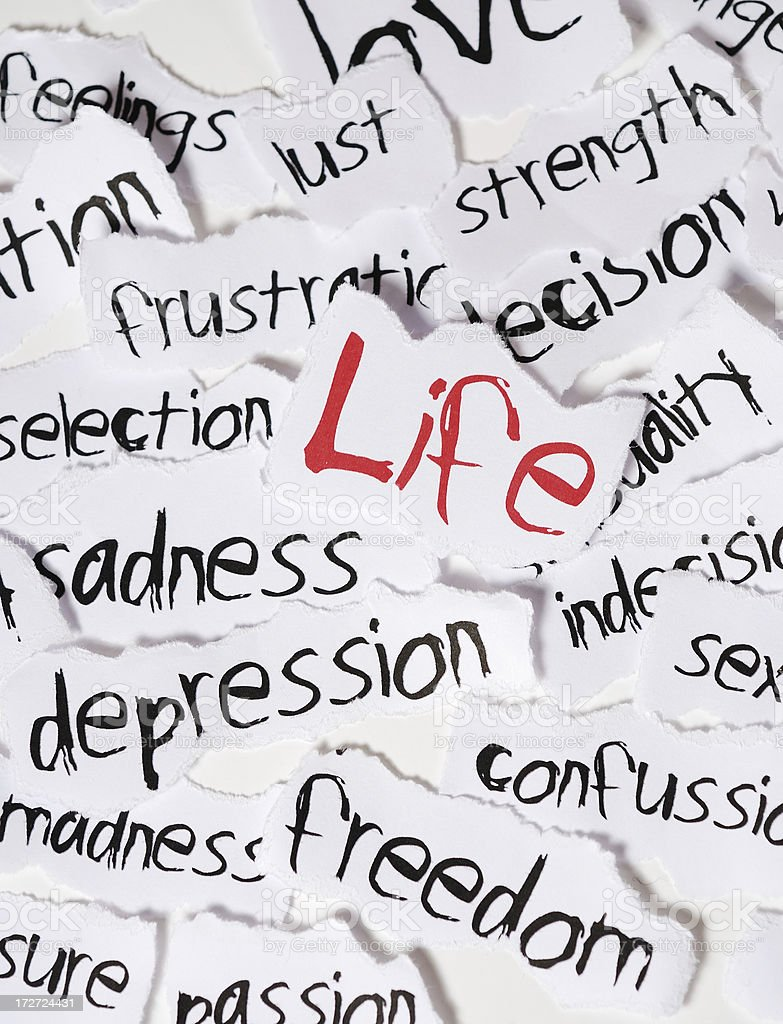 life with words royalty-free stock photo