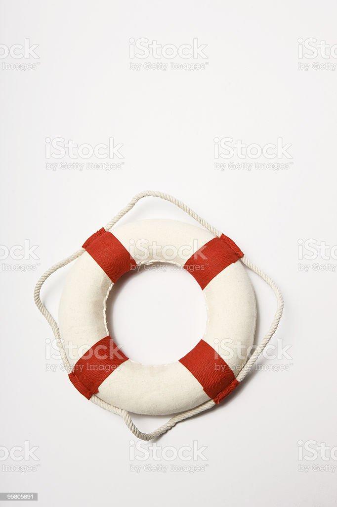 Lifebelt on white stock photo