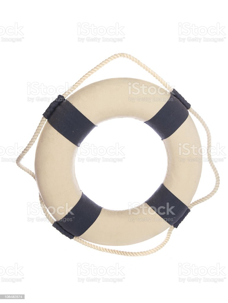lifebelt ring cutout royalty-free stock photo