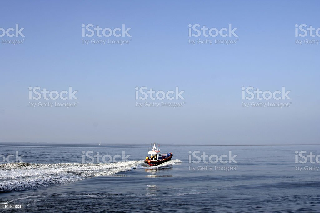 Lifeboat dispatch stock photo