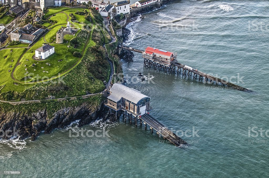 Lifeboat House in Tenby, South Wales stock photo