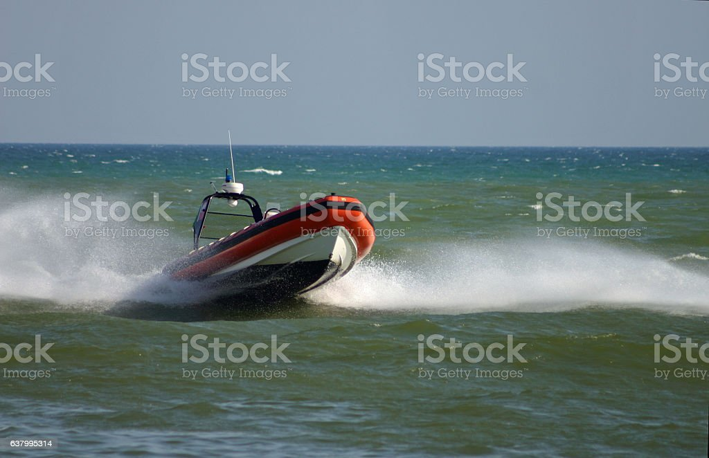 lifeboat in Italy stock photo