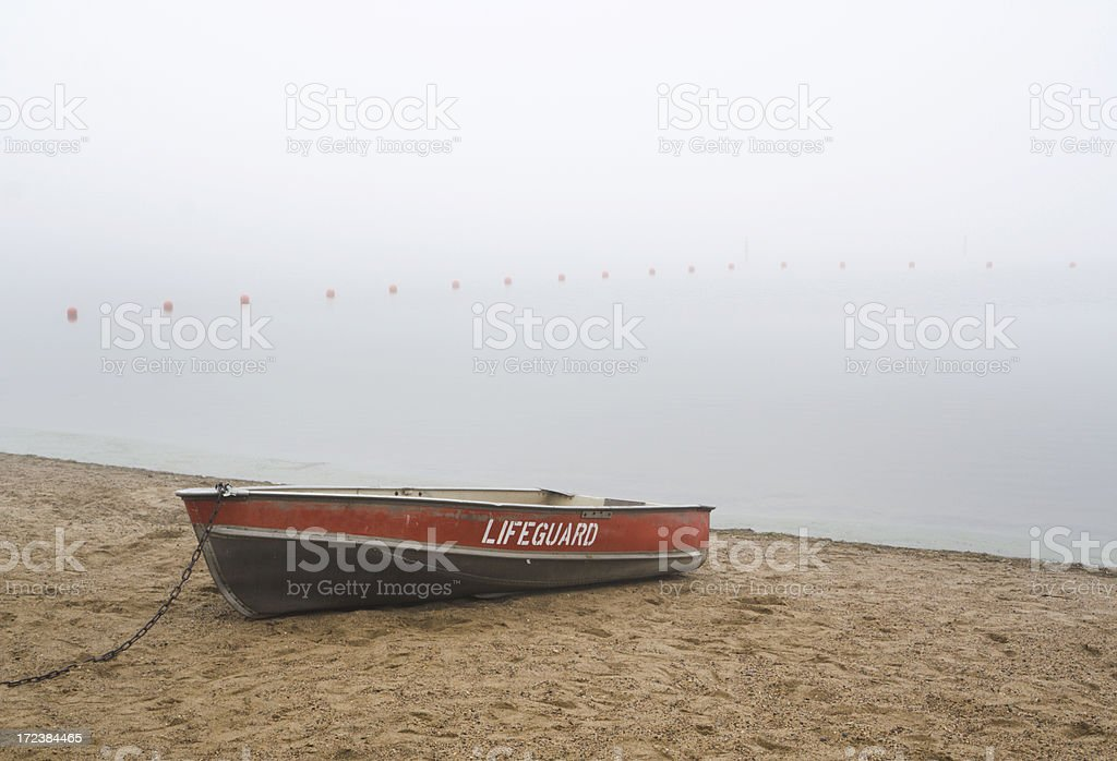 Lifeboat in the Mist royalty-free stock photo