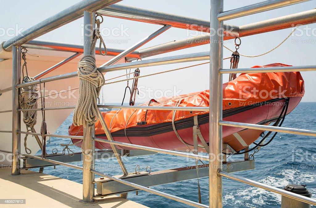 Lifeboat stock photo