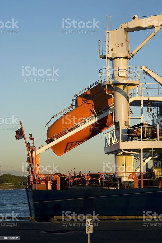 Lifeboat ready to go royalty-free stock photo