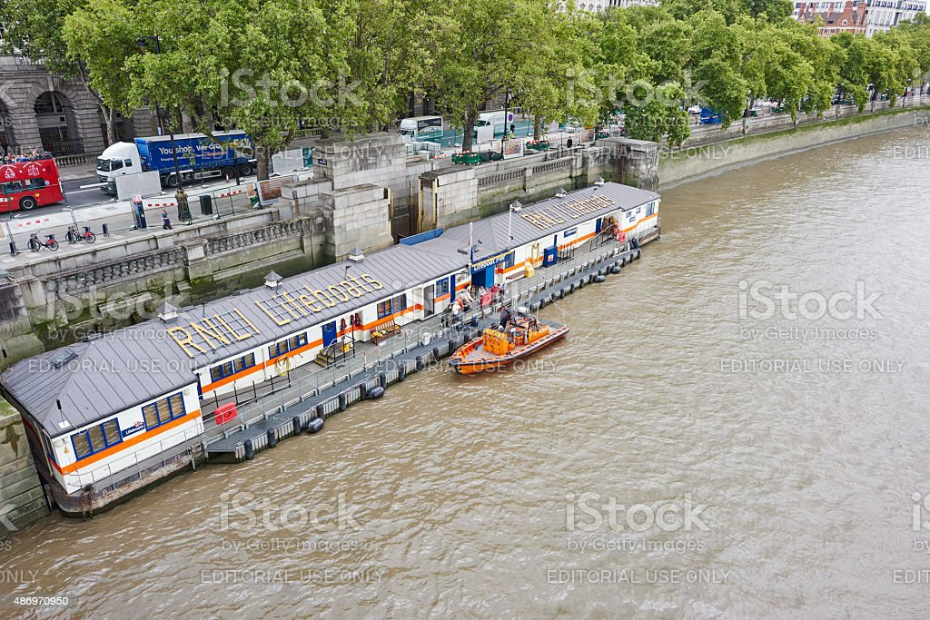 Lifeboat Station in London stock photo