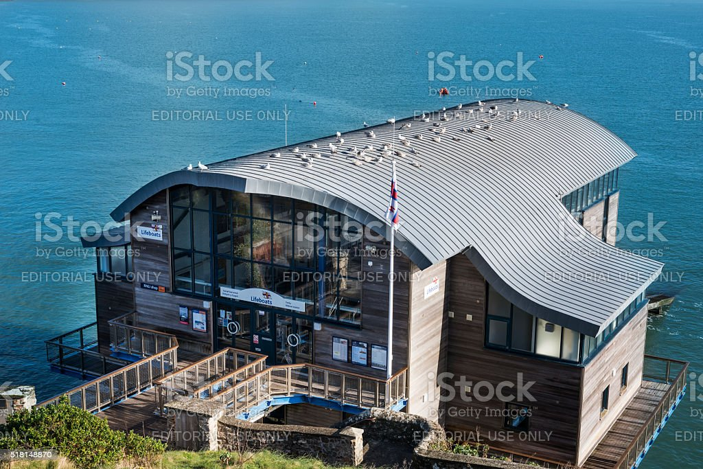RNLI Lifeboat Station stock photo
