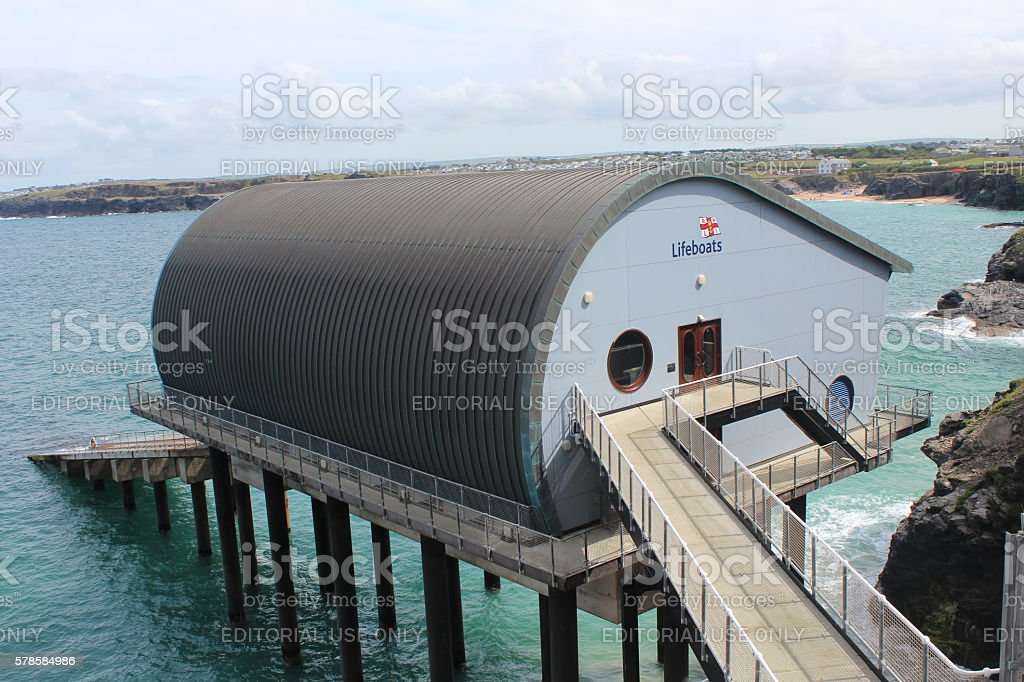 RNLI Lifeboat Station with Launch Ramp stock photo