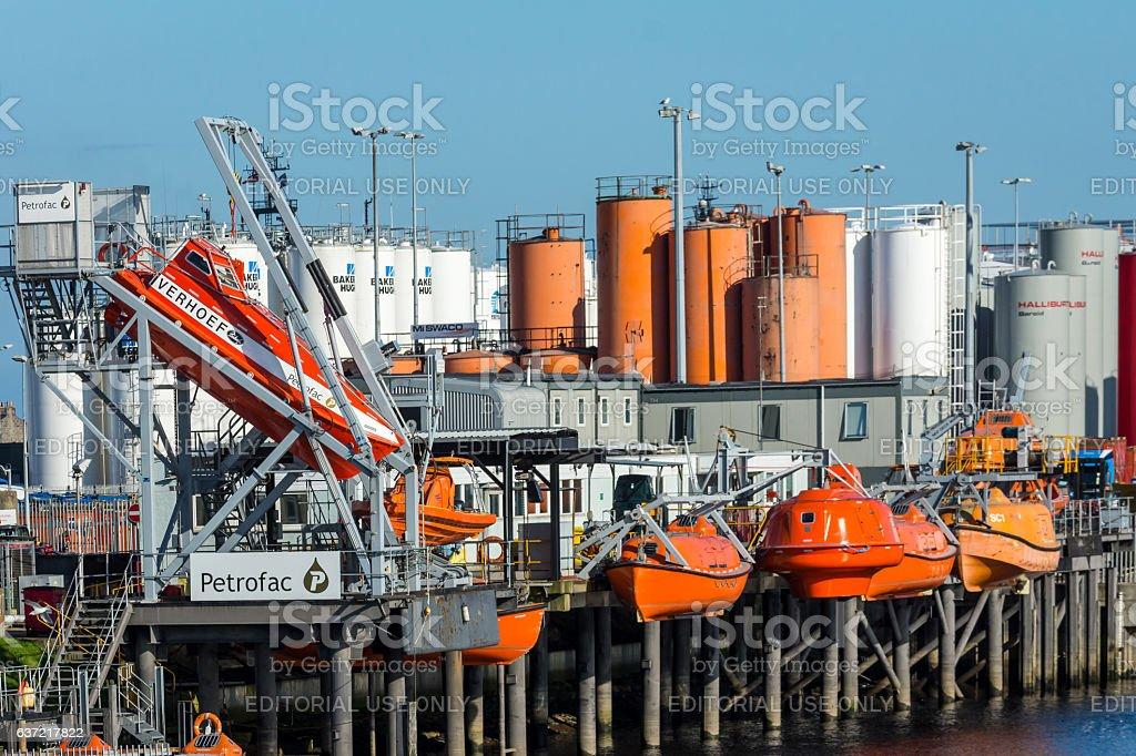 Lifeboat Training Centre stock photo