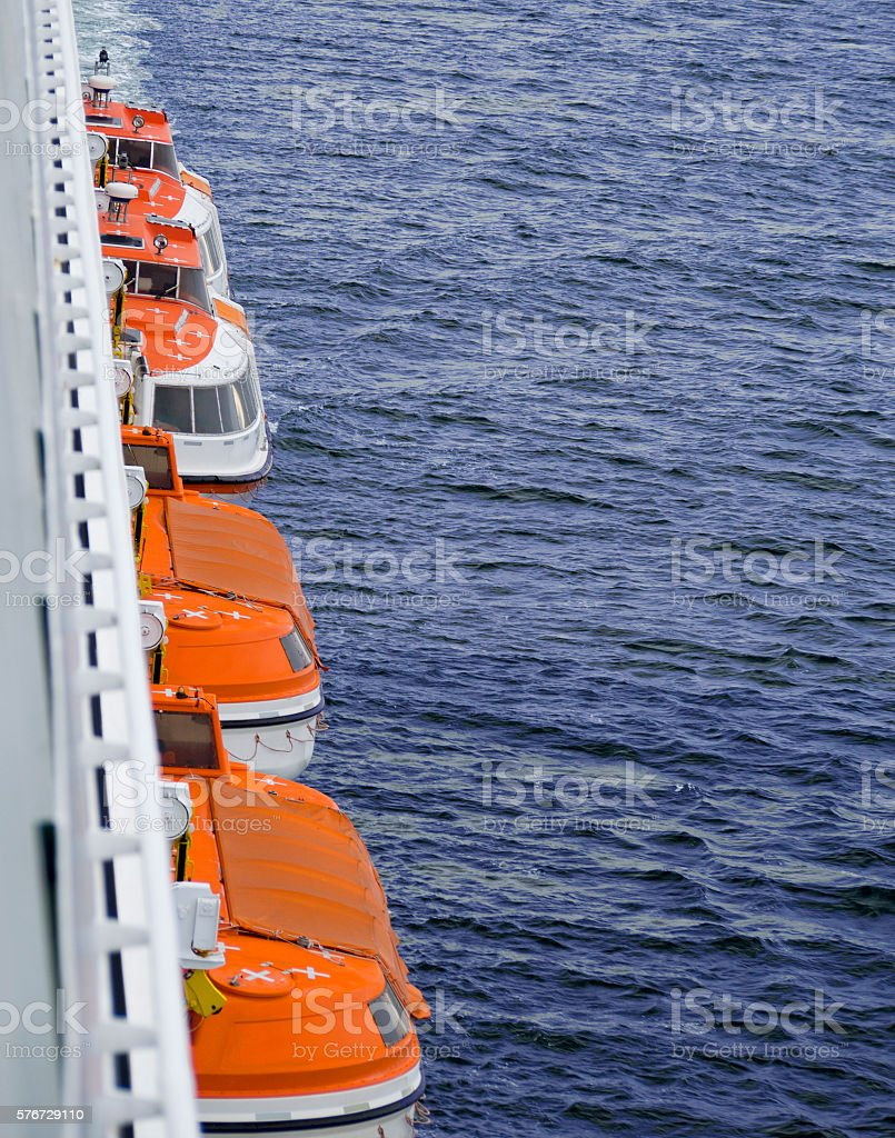 Lifeboats stock photo