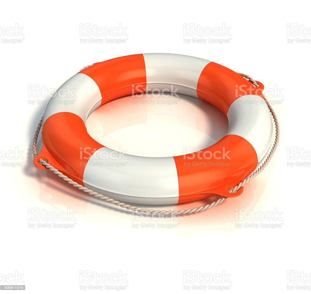 lifebuoy 3d illustration stock photo