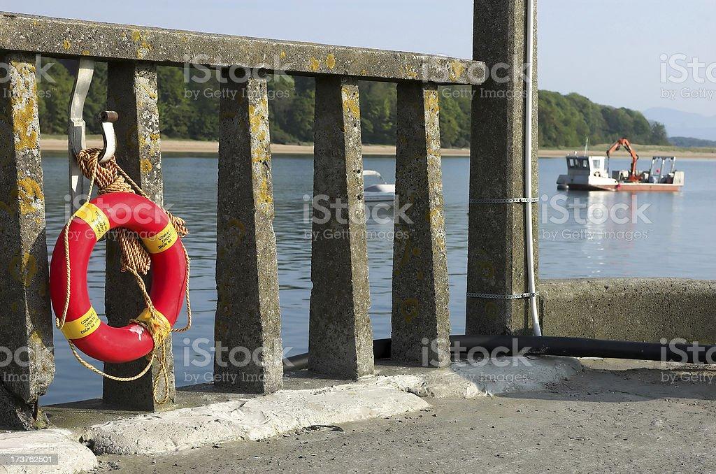 Life-Buoy in Ireland royalty-free stock photo