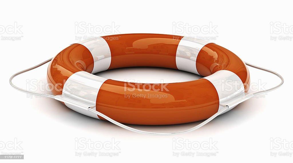 Lifebuoy isolated stock photo