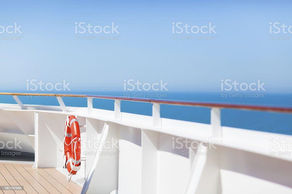Lifebuoy on Boat Deck royalty-free stock photo