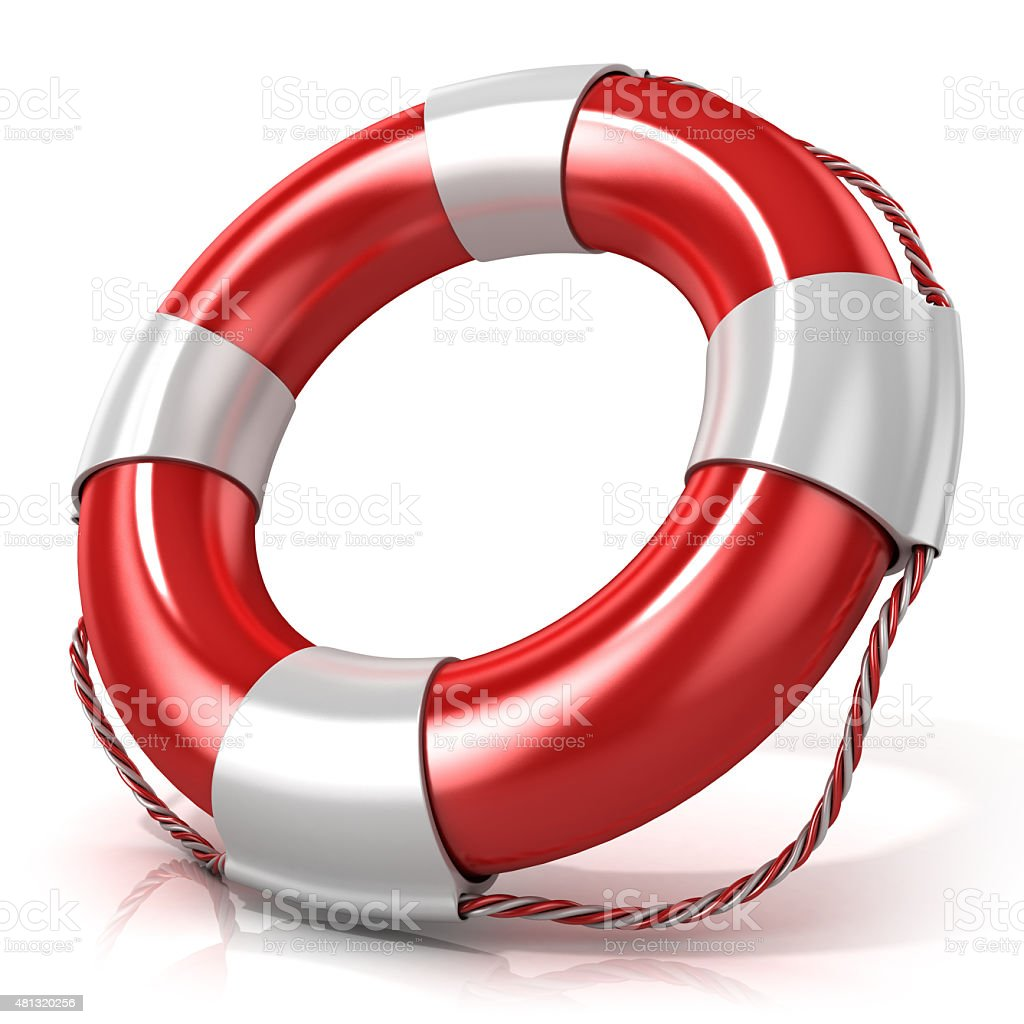 Lifebuoy. Right side view stock photo