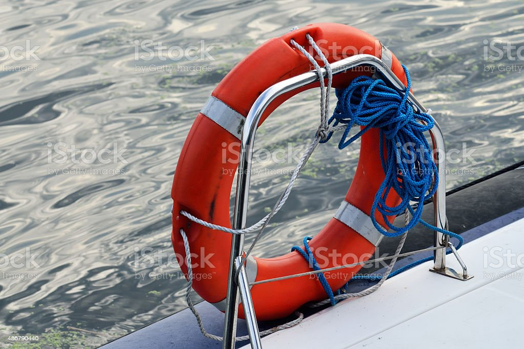 Lifebuoy ring stock photo
