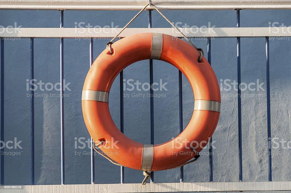 lifebuoy ship pier wall stock photo