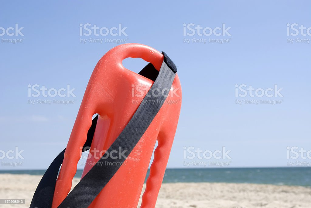 Lifeguard Beach Can in the Sun royalty-free stock photo