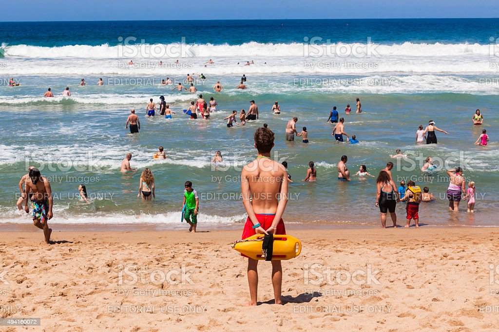 Lifeguard Beach Ocean Public stock photo