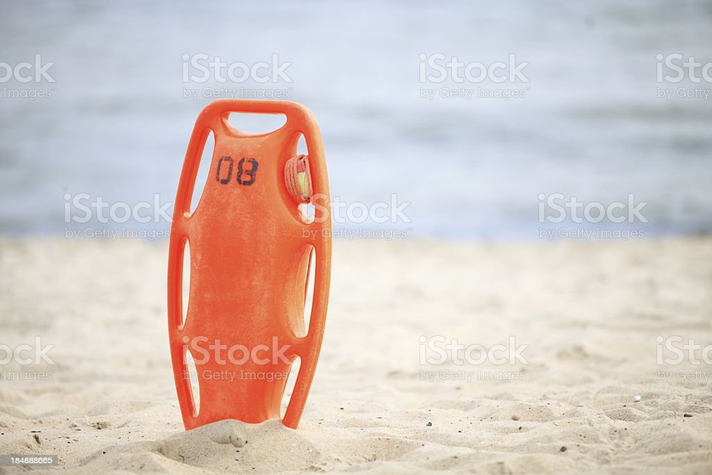 Lifeguard beach rescue equipment royalty-free stock photo