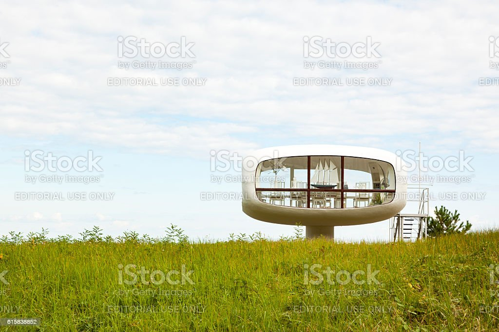 Lifeguard Cabin at Binz, Ruegen stock photo