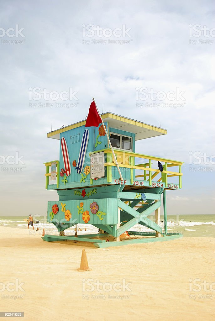 Lifeguard cabin royalty-free stock photo