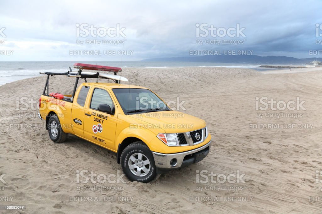Lifeguard car royalty-free stock photo