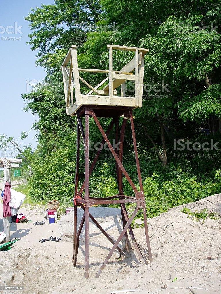 LifeGuard Chair royalty-free stock photo