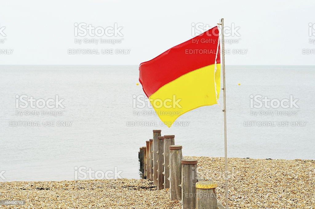 Lifeguard Flag royalty-free stock photo