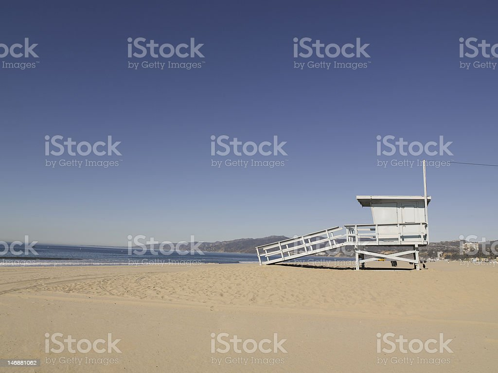 Lifeguard house on beach royalty-free stock photo