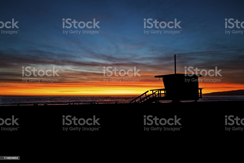 Lifeguard House royalty-free stock photo