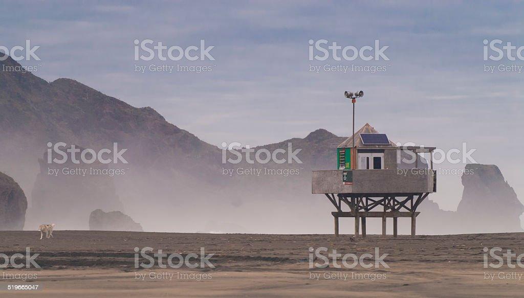Lifeguard house stock photo