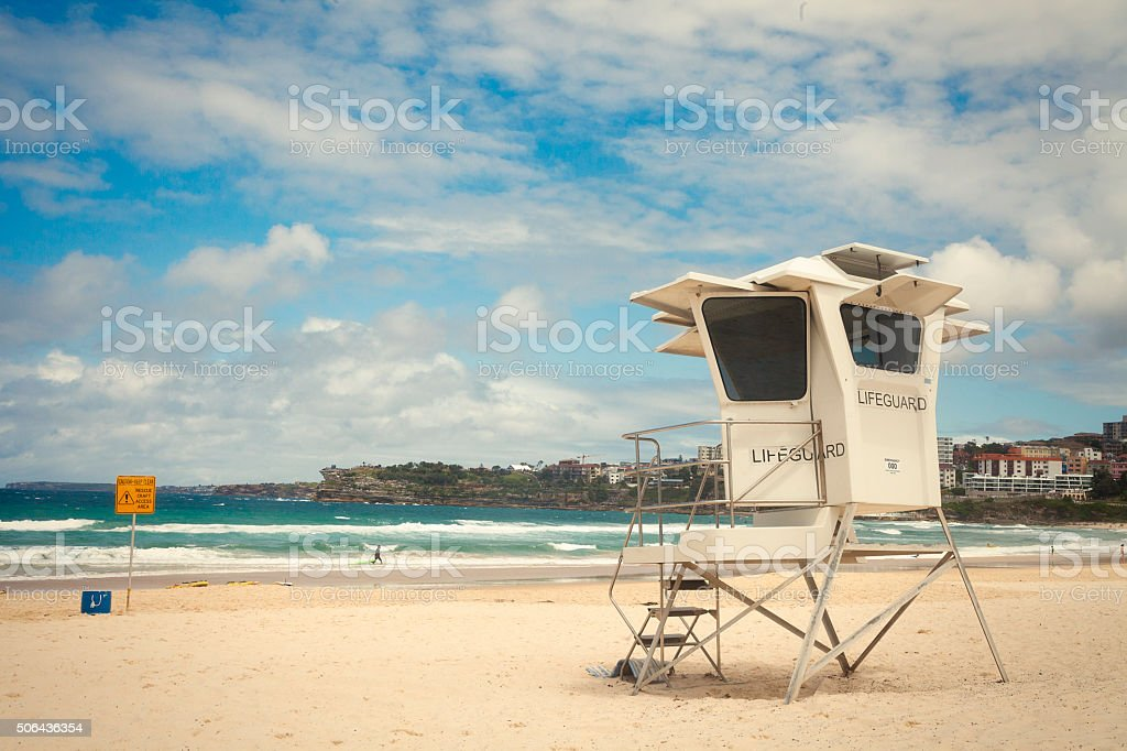Lifeguard Hut in Bondi beach, Sydney stock photo