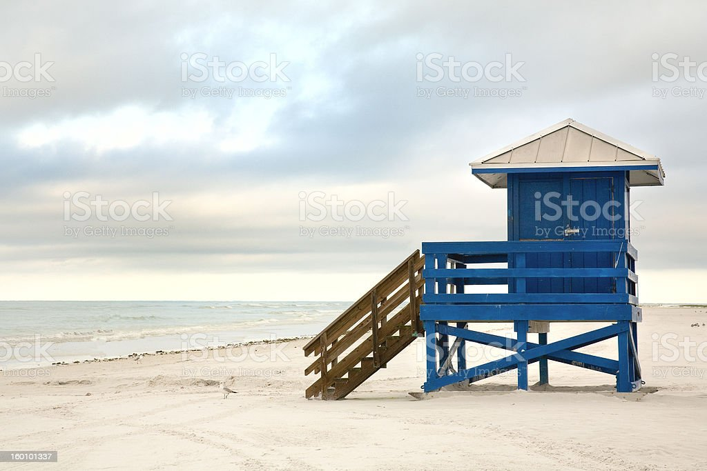 Lifeguard Hut stock photo